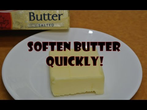 How to Soften Butter Quickly - Life Hack