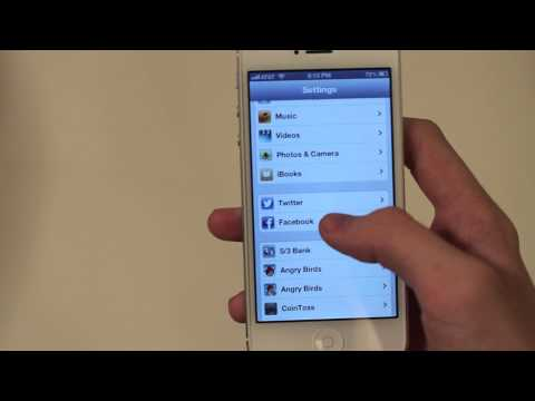 How to unlink Facebook contacts in iOS 6