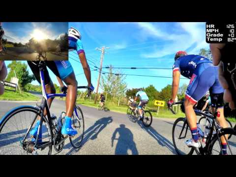 HD Cycling Training - 30 Mile Group Ride with hills (Trainer/Rollers)