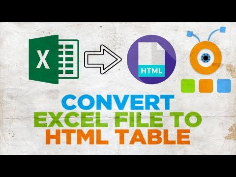 How to Convert an Excel File into HTML Table