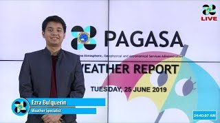 Download Public Weather Forecast Issued at 4:00 AM June 25, 2019 Video