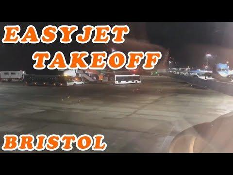Easyjet A320 Morning Takeoff Bristol