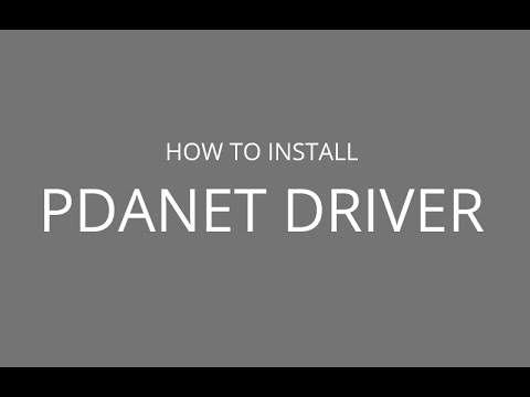 How to install PdaNet usb driver