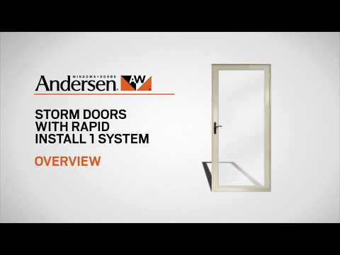 Storm Door Installation in About 1 Hour: Andersen Rapid Install 1 System Product Overview