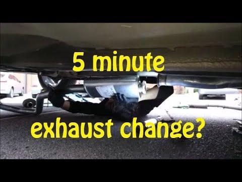 FIVE MINUTE EXHAUST CHANGE!