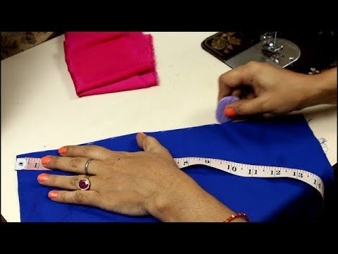 Beautiful sleeve design cutting and stitching in very easy method, Tuck design sleeves
