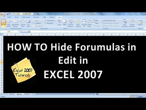 Excel 2007  2010 Tutorials Tips on  HIDE FORMULAS FROM APPEARING IN THE EDIT BAR IN EXCEL 2007