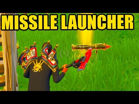 Fortnite: MISSILE LAUNCHER GAMEPLAY! *NEW* GUIDED MISSILE LAUNCHER UPDATE GAMEPLAY || Fortnite!