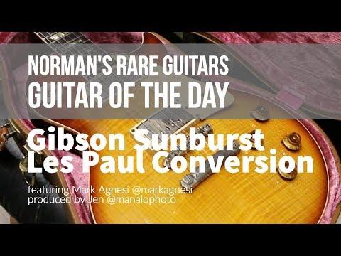 Guitar of the Day: Gibson Sunburst Les Paul Conversion   Norman's Rare Guitars