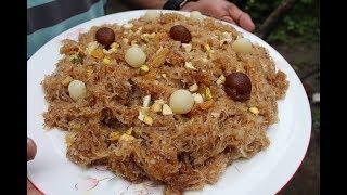 Village Food | Delicious Jorda semai for Eid festival | Grandmother recipes-85