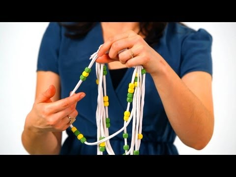 How to Add Beads to a T-Shirt Necklace | No-Sew Crafts