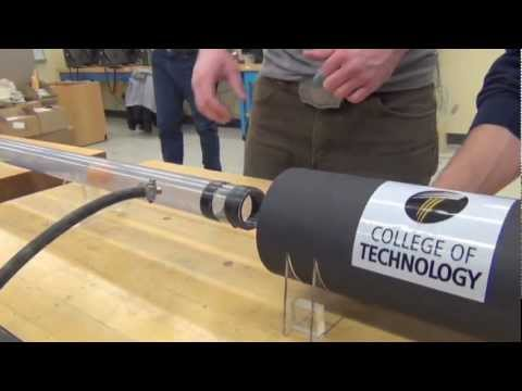 Purdue Technology students build supersonic ping pong gun