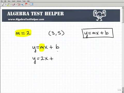 Find the Equation of a Line Using Slope-Intercept Form