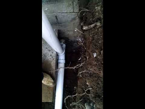 Septic Tank Inlet Pipe Repair - Added 2 way cleanout - Home Depot