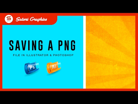HOW TO SAVE DESIGNS TO TRANSPARENT PNG - SAVING PNG IN PHOTOSHOP AND ILLUSTRATOR