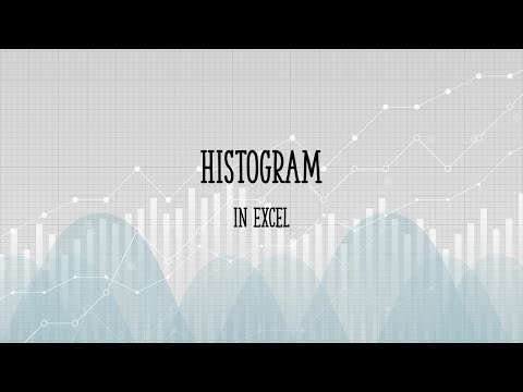 How to make a histogram in Excel 2013