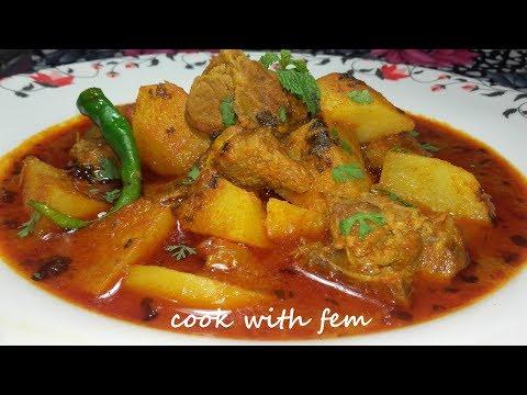 ALOO GOSHT KA SHORBA || Hyderabadi Aloo Methi Gosht Ka Salan - Potato & Mutton Stew - A Must Try