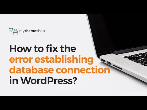 How to fix the error establishing database connection in WordPress?