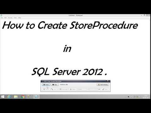 Create stored procedure in sql server 2012
