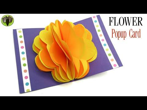 Flower Popup Card - DIY | Scrapbook | Tutorial by Paper Folds - 831