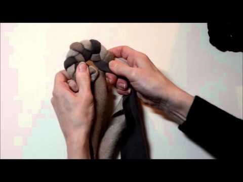 Beginning Rug Braiding: Braiding a Circle Start (Left opening braid)
