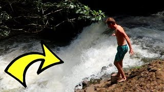 JUMPING OFF A WATERFALL!