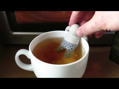 Tea leaf filter infuser little man