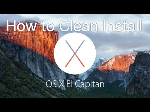 How to Clean Install OS X El Capitan