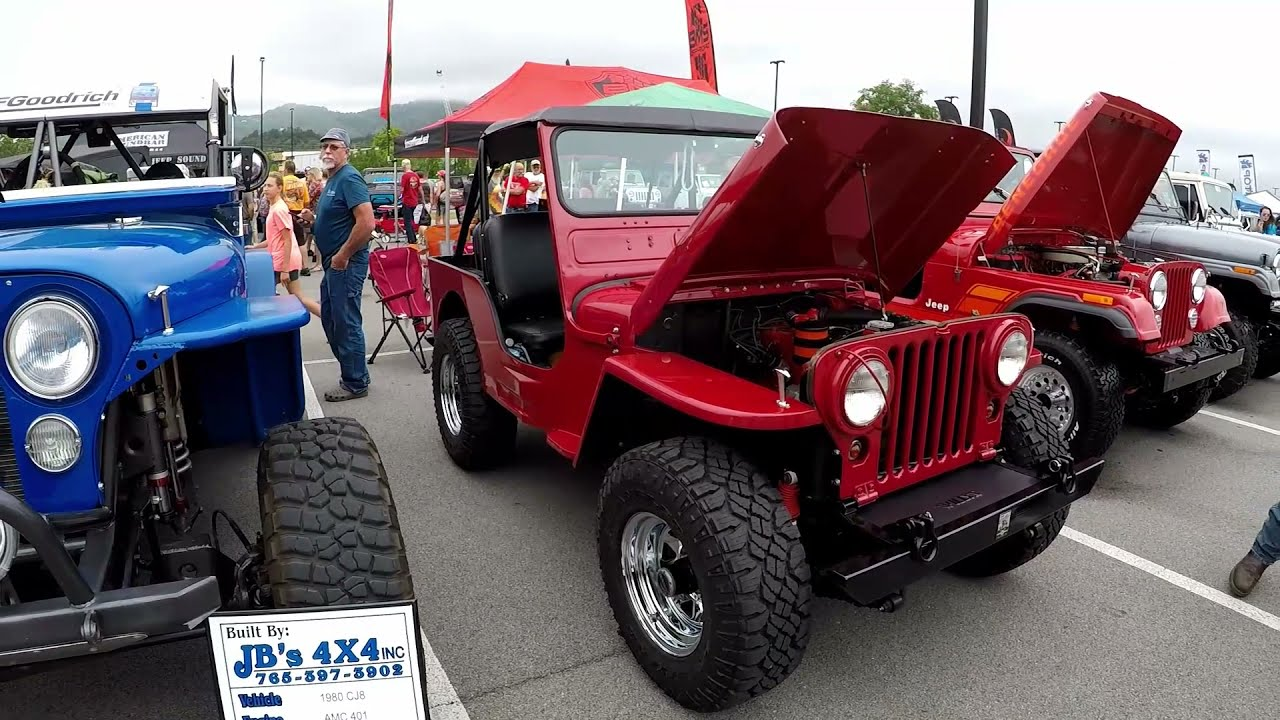 Jeep CJs at Jeep Invasion 2019