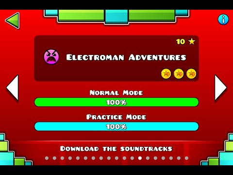 Geometry Dash | Level 13 | Electroman Adventures | 1 attempt | (insane) 100%