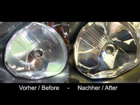 How to restaurate glued headlights, bake, open, polish - ENGLISH