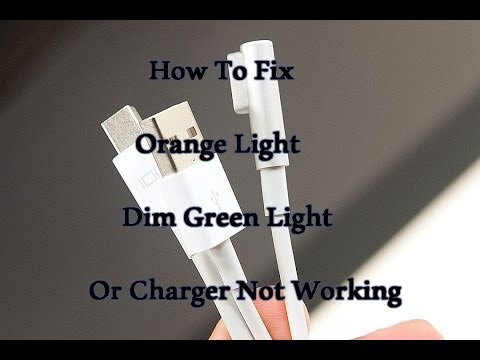 How To Fix Apple Mac Magsafe Charge Simple! (Dim Green Light/Orange Or Mac Not Charging)