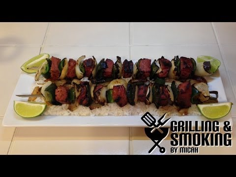 Beef Kabobs on the Weber Kettle