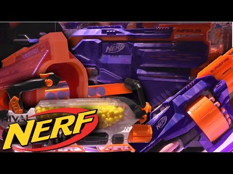 NEW! 2018 Nerf Blasters (Spring, Fall) Infinus, Tri-Break, Thunderhawk, Evader, Promethius