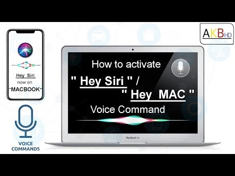 Activate Handsfree Siri on Macbook or iMac: MacOS Sierra Siri update