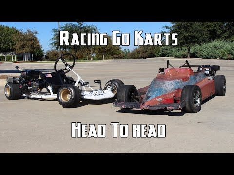Driving the Racing Go Karts!