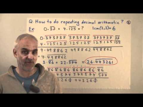 Fractions and repeating decimals | Real numbers and limits Math Foundations | N J Wildberger