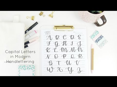 Capital Letters in Handlettering A-Z Worksheets | Flipthrough and Weekend Sale