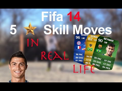 Fifa 14 All 5 Star SKills Moves In Real Life Tutorial