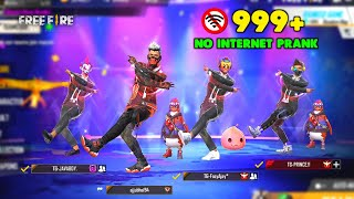 Ajjubhai No Internet Prank Gameplay with TG eSports - Garena Free Fire