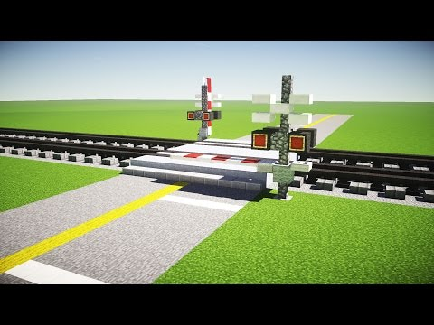 Minecraft Railroad Crossing Tutorial
