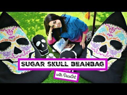 HOW TO: Sugar Skull Bean Bag Chair