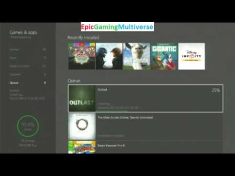 Tutorial For How To Download And Install Outlast On Xbox Live On The Xbox One