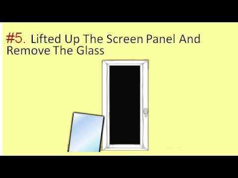 Steps To Remove Storm Door Windows & Glasses