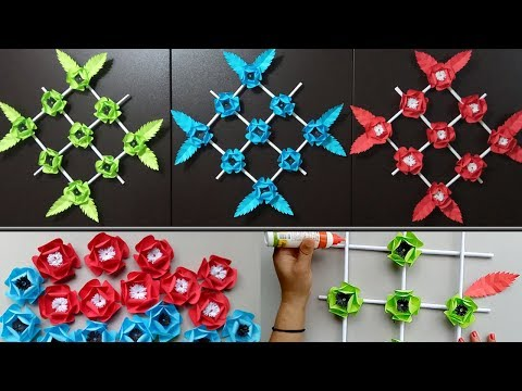 Wall Hanging Paper Flower - DIY Wall Decoration ideas