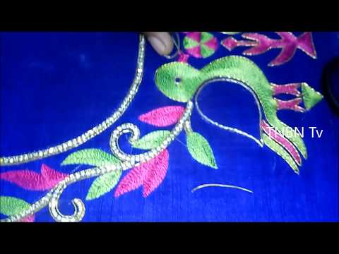 hand embroidery stitches for beginners | simple maggam work blouse designs, hand embroidery stitches