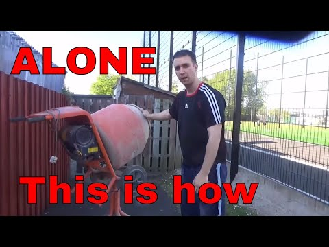 HOW TO SET UP A CEMENT MIXER WHEN ON YOUR OWN