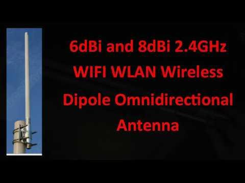 6dBi and 8dBi 2.4GHz WIFI WLAN Wireless Dipole Omnidirectional Antenna