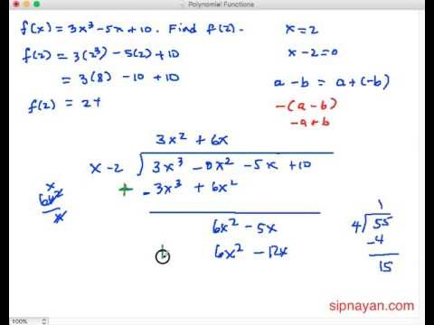 PF07 Dividing Functions:  Their Quotient and Remainder