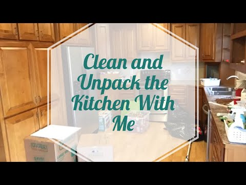 Clean and Unpack The Kitchen With Me